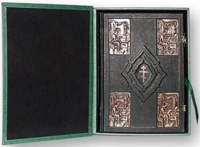 Библия (1213) 088 DCTIбол.формата в футляре(зеленая)