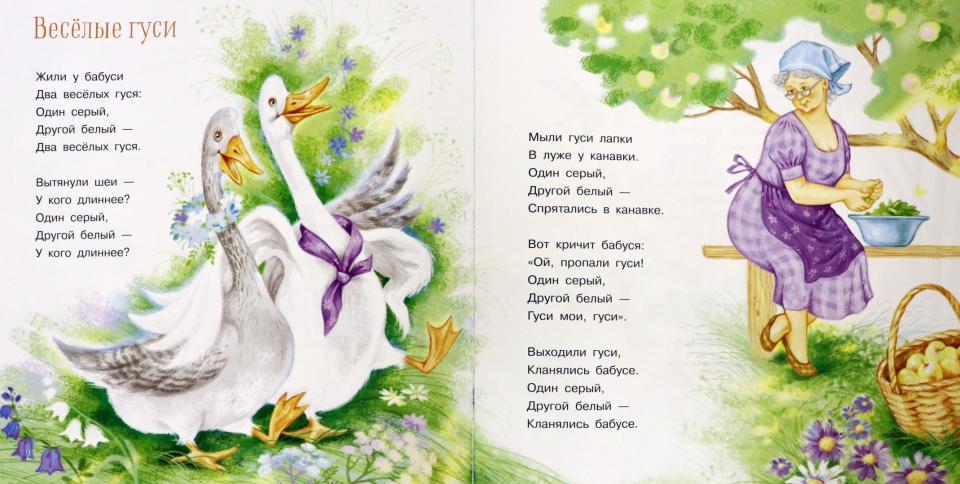 Веселые гуси.Стихи и песенки