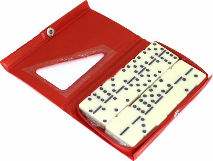 Домино (пласт.фишки) в мяг.коробке 14x9см P00064 М