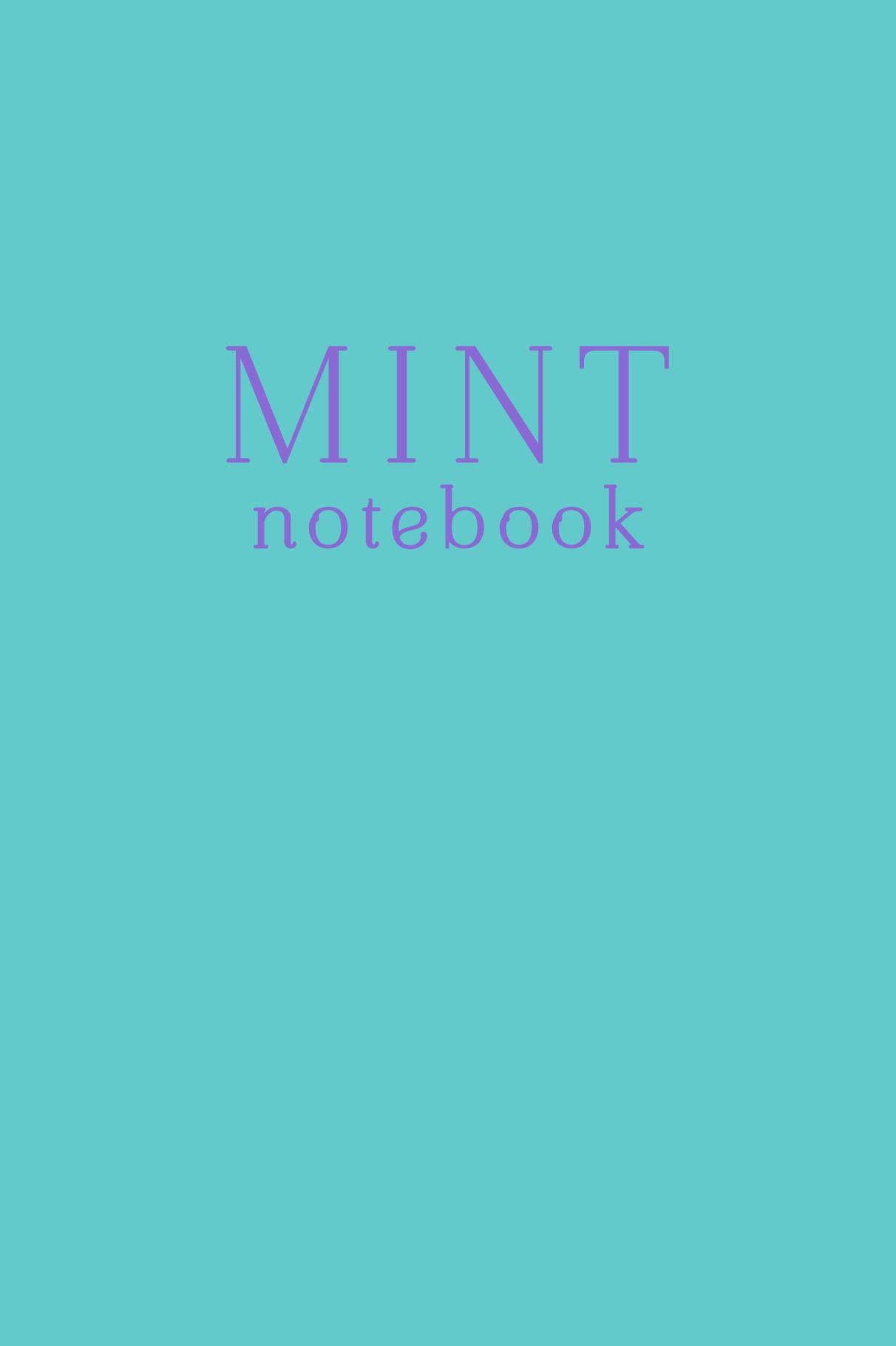 Mint notebook. Блокнот (А5, 32 л., прошитый цветными нитками, тиснение фольгой)